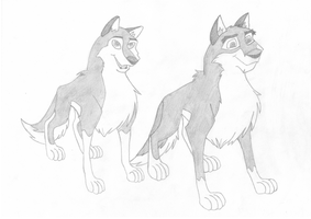 Balto and Alu Pencil by Sam-F-Nacman