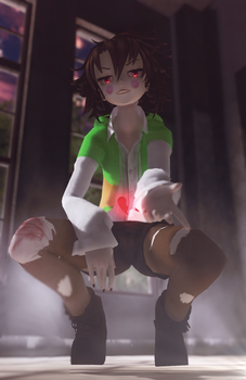 [MMD | Undertale] Chara by KateChar