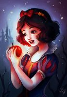 Snow White with the Apple by Ludmila-Cera-Foce