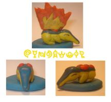 Cyndaquil Sculpture by samuelnff