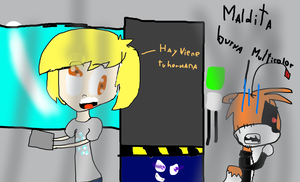 Derpy y Tails Doll en Five nights at animes by patopaint13