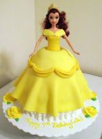 Belle Doll Cake by ayarel