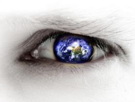 Eye with globe by arghus