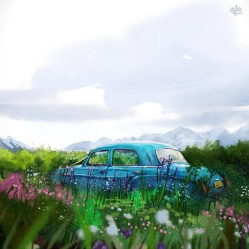Landscape with car 3 by McPyrus