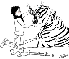 Lil Jim And Were Tiger Seb by octofied