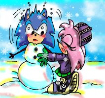 Sonic winter fun 3 by Amely14128