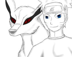 Naruto and Kyuubi by kyubifan