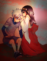 Killua and Nanika by Hei-Chan