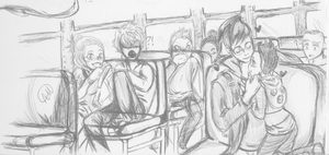 Pen Doodle On the Bus by NotYourTherapist