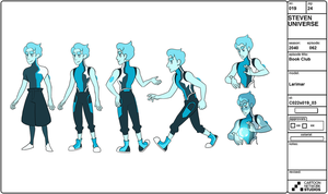 Larimar - Model Sheet by Crumbelievable