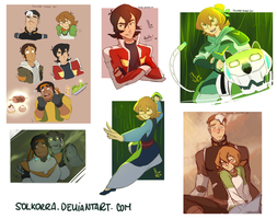 Voltron Sketches from Tumblr by SolKorra
