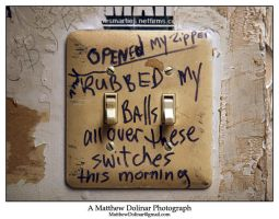 Graffiti on Lightswitches by GetMadBaby