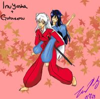 Inuyasha and Gotouketsu by TheReza13