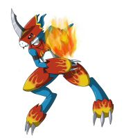 Flamedramon by PrinzeBurnzo