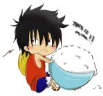 "Chibi Luffy. ""This is mine"" by Kimoto-chan"