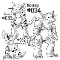 PKMN-A-DAY: Male Nidos by the-b3ing