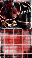 March 2012 Calendar - Star Wars by glomdi