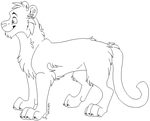 Free Big Cat Lineart by Ty-Tanium