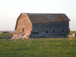 Falling Barn - view 2 by ArtistStock