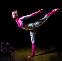 Bendy clare flying flowery metallic bodypaint by Bodypaintingbycatdot