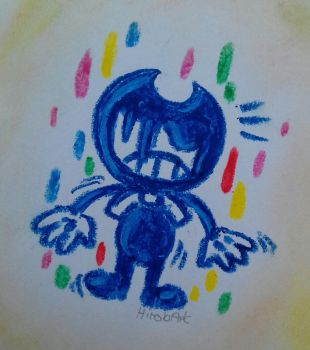 Bendy hates colors by HirobArt