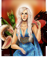 The mother of Dragons by Mo0gs