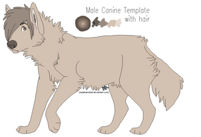 FREE USE : Male Canine Lineart by kadeKANNIBAL