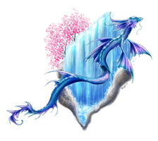 Water dragon tattoo (commission update) by Morrigan-LE