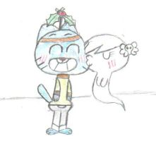 Gumball and Carrie by CartoonDude95