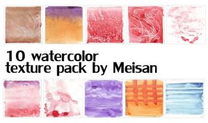::WATERCOLOR TEXTURE PACK 2:: by meisan