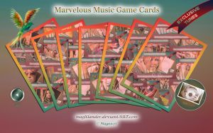 Game Cards Marvelous Music I by magXlander