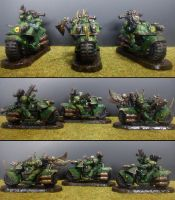 Plagueriders, Chaos Bikers of Nurgle by Majere613