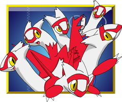 Many Latias by Saital