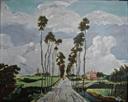 Reproduction of 'The Avenue at Middelharnis' by YuffieInWutai