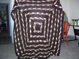 Chocolate cake blanket completed by Evilpagemistress