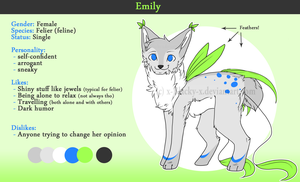 Reference Sheet: Emily by SevBD