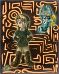 Link and Midna  -art by pikminlink