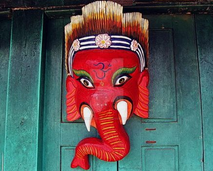 Ganesh Deity Mask by crypticfragments