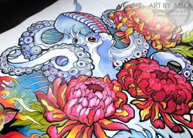 Octopus neotradition Tattoo sketch Tattoo flash. by AsikaArt