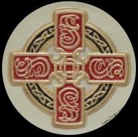 Celtic Sun Cross by kevindyer