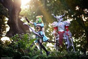 Fate/Apocrypha - Atalanta n Mordred by vaxzone
