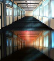 Second Indirect - School hallways by Rinine