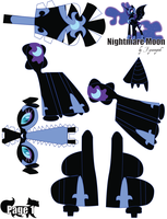 Nightmare Moon Printout 1 by FyreWytch