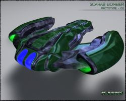 POLISHED SCARAB BOMBER by Buchio