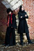 Severus Snape and Harry Potter by AhrimanFox