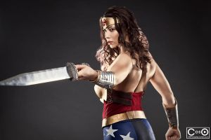 Margie Cox as Injustice Wonder woman by moshunman