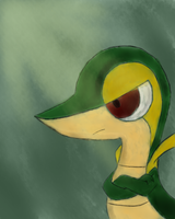 AT: Snivy~ by Little-Archen
