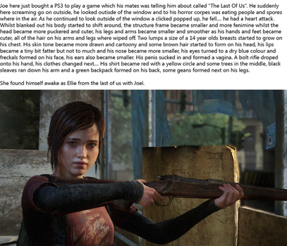 The Last Of Us Ellie TG Caption by Jzoid