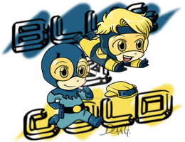 Blue Beetle Booster Gold chibi by DeanGrayson