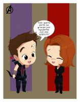Clintasha - Hawkeye and Black Widow by Ukyo-Ku